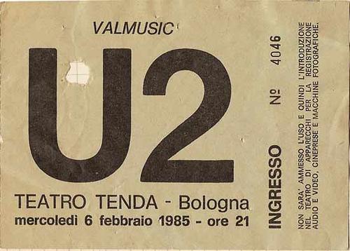 Il biglietto di Bologna 1985