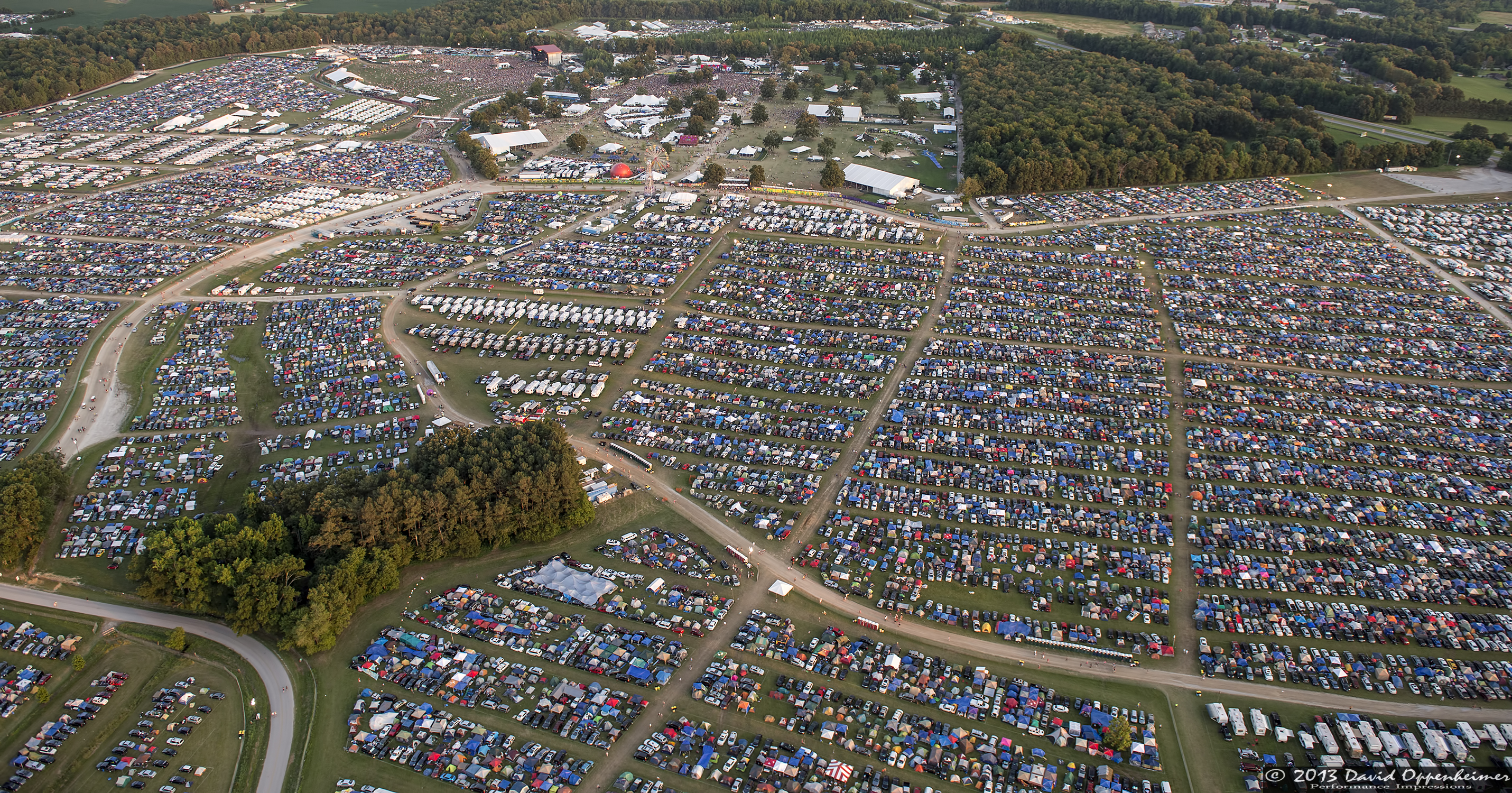 Bonnaroo Music Festival aerial photo of festival crowd on June 14, 2013 in Manchester, Tennessee - © 2013 David Oppenheimer - Performance Impressions Concert Photography Archives - http://www.performanceimpressions.com