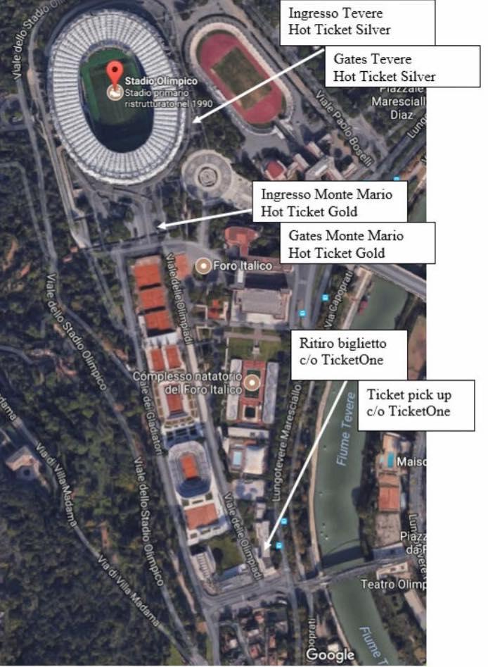 Cartina Stadio Olimpico Di Roma.Gli U2 Arrivano A Roma Tutte Le Info Utili Per I Concerti Di Sabato E Domenica U2place Le Notizie In Italiano Sugli U2